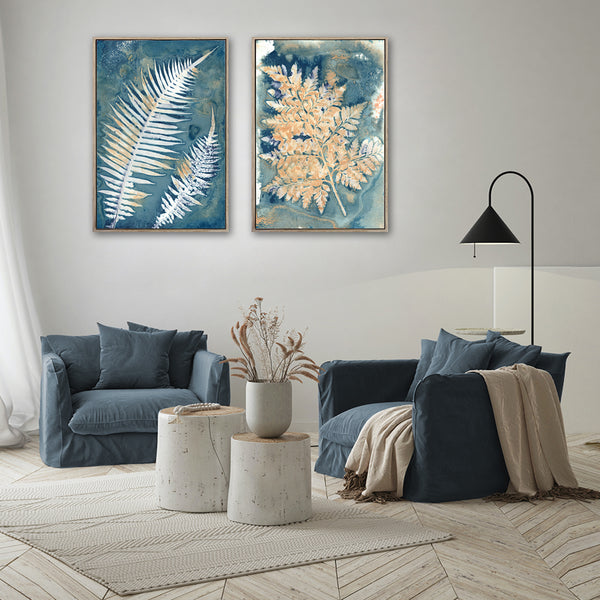 Botany Blue - 2x Large Art prints, set 2