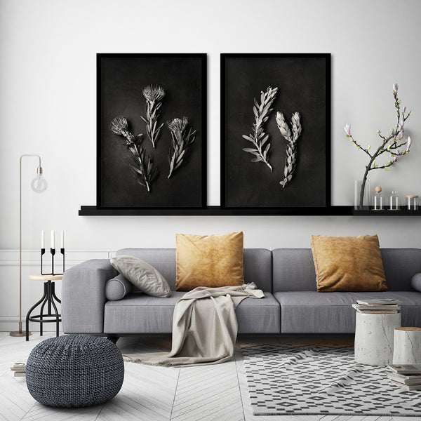 Monochrome Pins - 2x Large Art prints, set 3