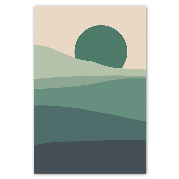 Unframed Art Print - Colour Field Landscape 1, Cool
