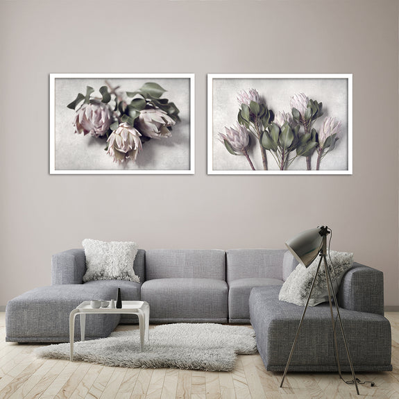 Pale Proteas - 2x Large Art Prints, set 3