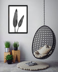 Black and White Greenery - 1x Large Art print