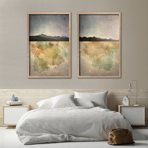 Horizon, Mountain set - 2x Large Art prints