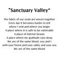 Sanctuary Valley, Lake Art print