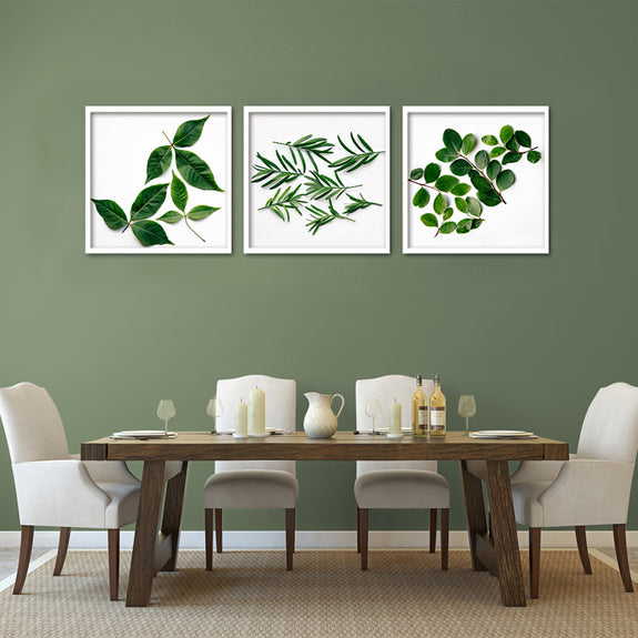 Leaves - 3x Square Art prints