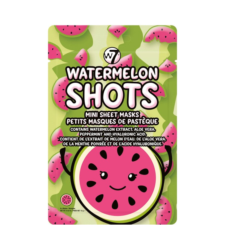 Water Melon Shots Mini Sheet Masks by W7