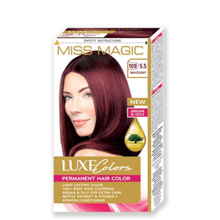 "Permanent Hair Colour ""Miss Magic Luxe Colors"" 108g № 109 Mahogany"