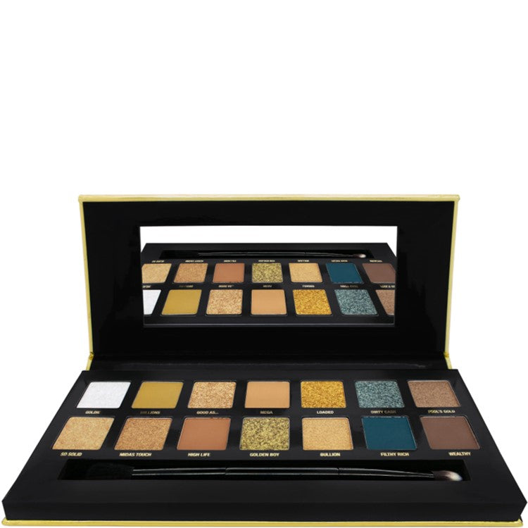 24K Gold Rush 14 of the Richest Pressed Eye Shadow Pigments by W7
