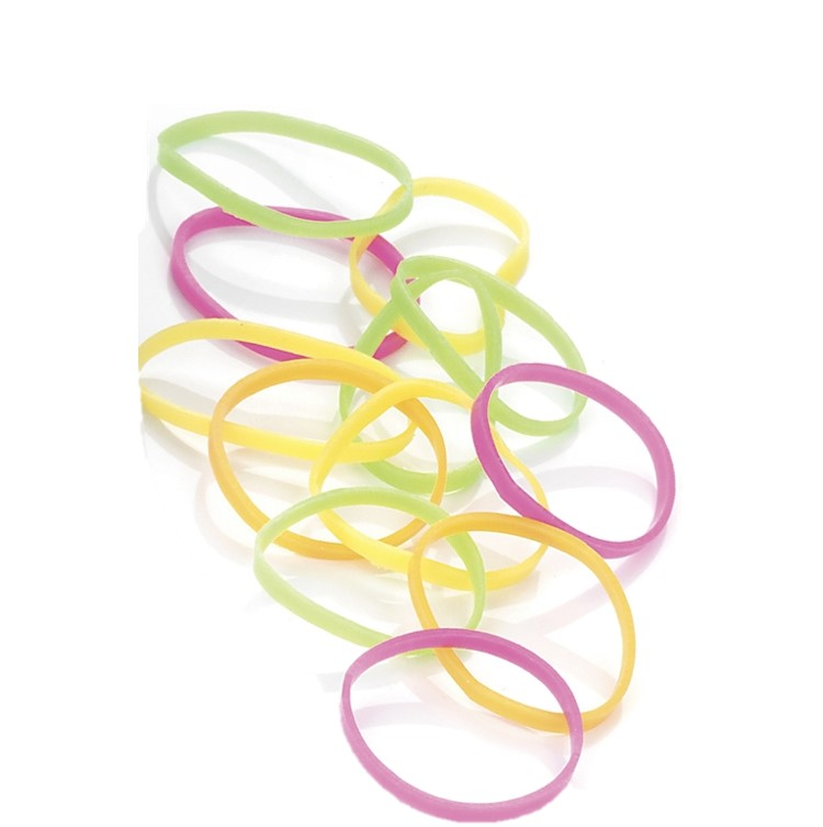 250 pieces multi neon tone colour hair elastic band