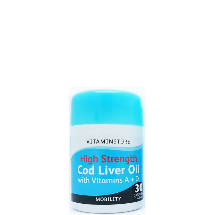 Vitamin Store High Strength Cod Liver Oil with Vitamins A+D 30's