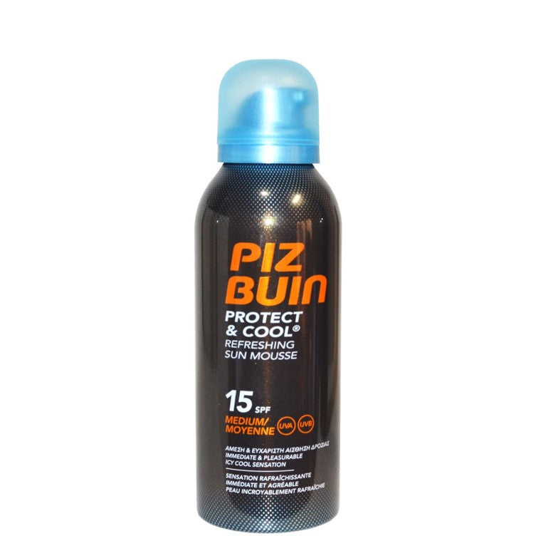 Piz Buin Cool & Protect refreshing Sun Spray Mousse SPF15