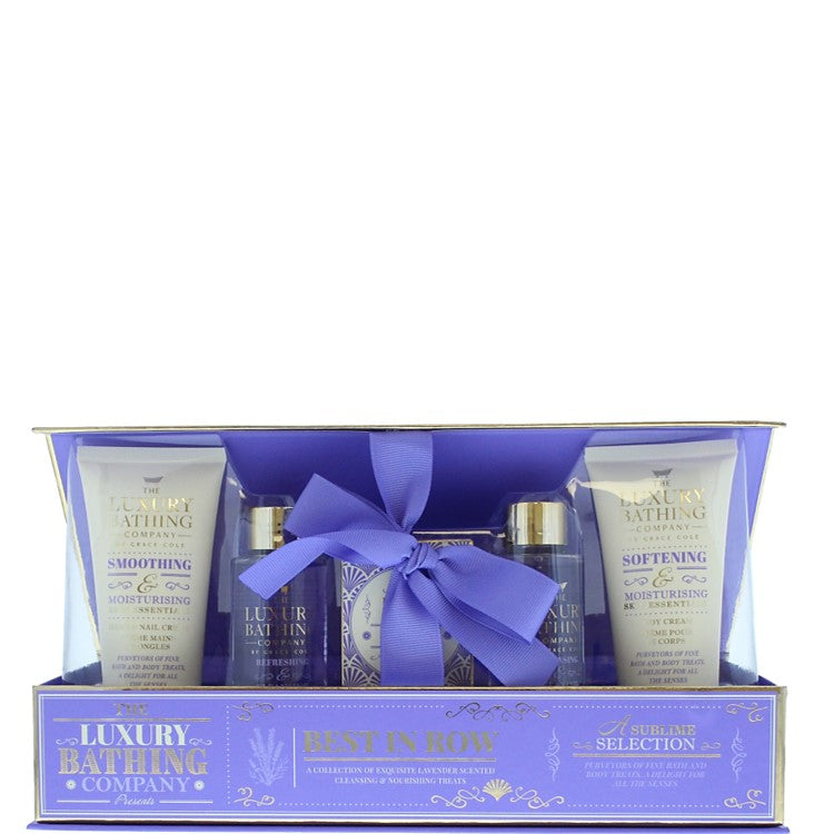 The Luxury Bathing Company by Grace Cole Lavender & Honeysuckle Home Spa Set