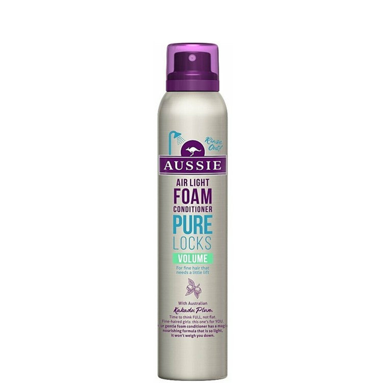 Aussie Foam Conditioner Pure Locks Volume  180ml