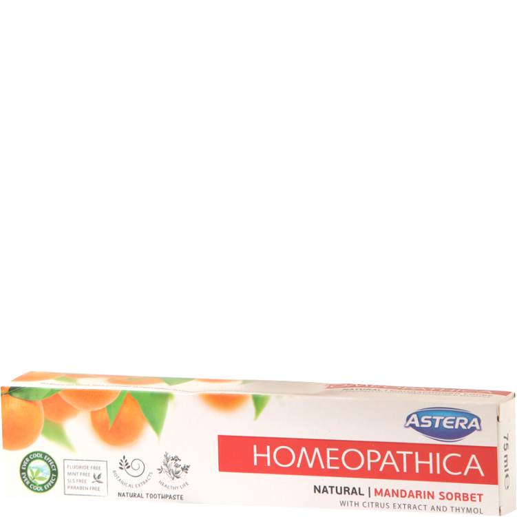 Astera Homeopathic Toothpaste Mandarin Sorbet 75ml