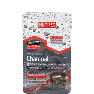Beauty Formulas 2 Step Deep Absorbing Charcoal Facial Face Mask