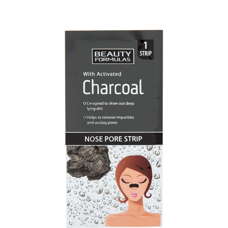 Beauty Formulas Nose Pore Strips with Activated Charcoal 6 Strips