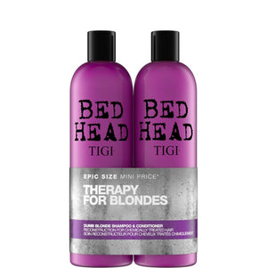 Tigi Therapy for Blondes Dumb Blonde Shampoo & Conditioner 2x750ml