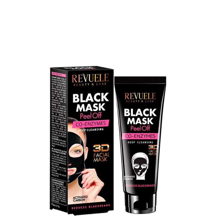 Revuele Black Mask 3D Facial Peel Off Co-Enzimes