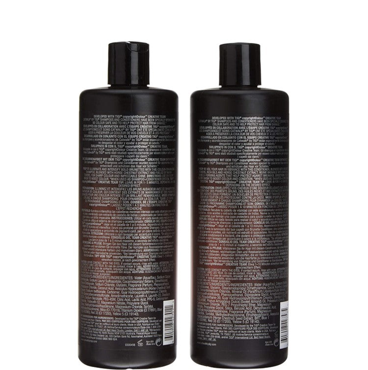 TIGI Catwalk Fashionista Brunette Shampoo & Conditioner Duo Set 750ml