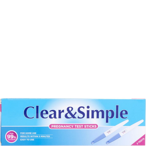 Clear & Simple Pregnancy Test Sticks