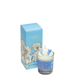 Cotton Clouds Piped Glass Candle