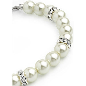 Cream pearl colour glass bead crystal bracelet
