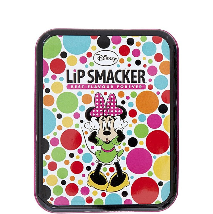 Disney Minnie Mouse Dots Tin Lip Smacker Lip Balms Box 6 Pieces