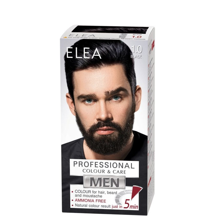 ELEA for Men Colour for Hair, Beard and Moustache 100ml № 1.0 Black