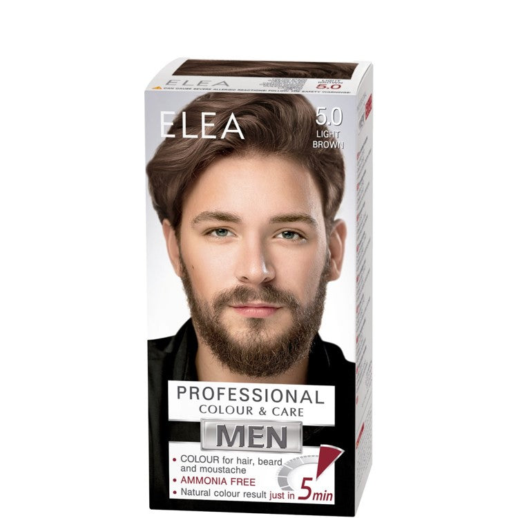 ELEA for Men Colour for Hair, Beard and Moustache 100ml № 5.0 Light Brown