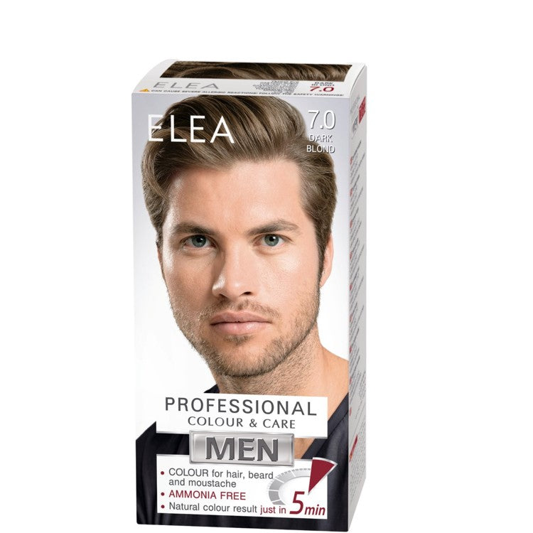 ELEA for Men Colour for Hair, Beard & Moustache 100ml № 7.0 Dark Blond