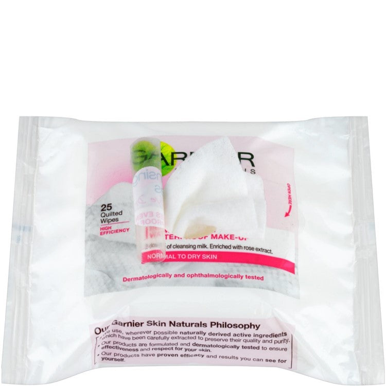 Garnier Skin Naturals Cleansing 25 Quilted Wipes