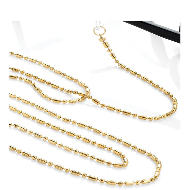 Gold colour chain glasses strap