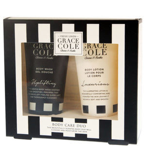 Grace Cole Fresh Linen Body Care Duo Bath/Shower Set