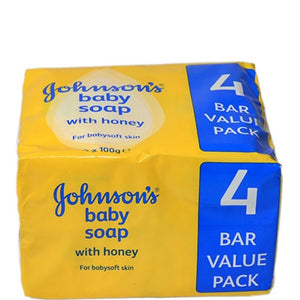 Johnson's Baby Soap with Honey 4x100g Bars