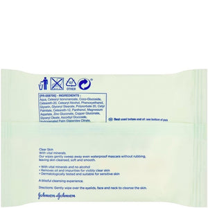 Johnson's Face Care Makeup Be Gone Clear Skin 25 Wipes