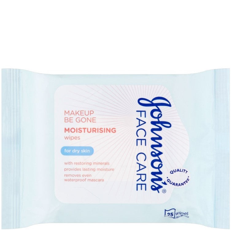 Johnson's Face Care Makeup Be Gone 25 Moisturising Wipes