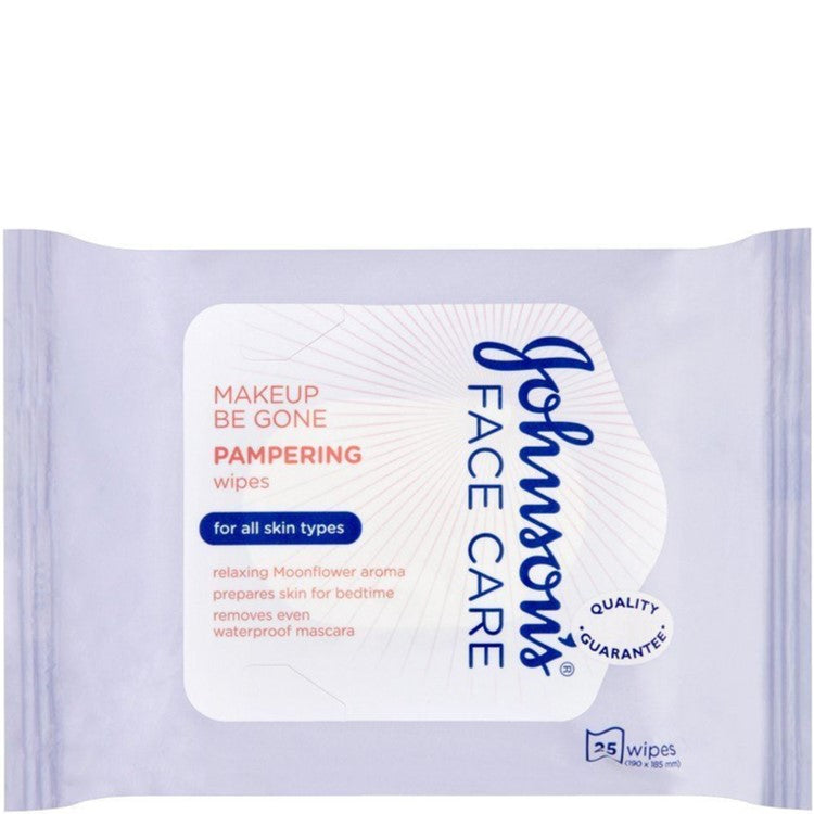 Johnson's Face Care 25 Pampering Wipes