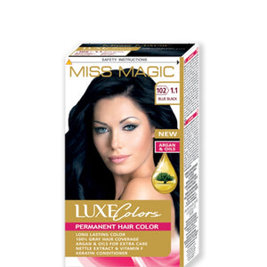 "Permanent Hair Colour ""Miss Magic Luxe Colors"" 108g № 102 Blue Black"