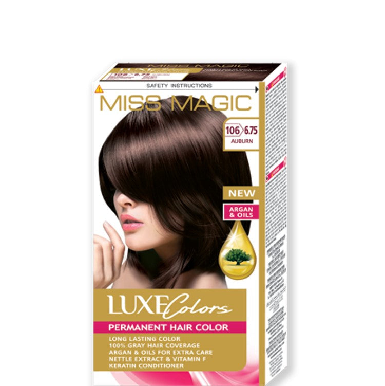 "Permanent Hair Colour ""Miss Magic Luxe Colors"" 108g № 106 Auburn"