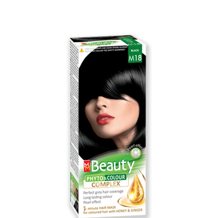 Permanent Hair colour 'MM Beauty Phyto & Colour' 125g № M18 Black