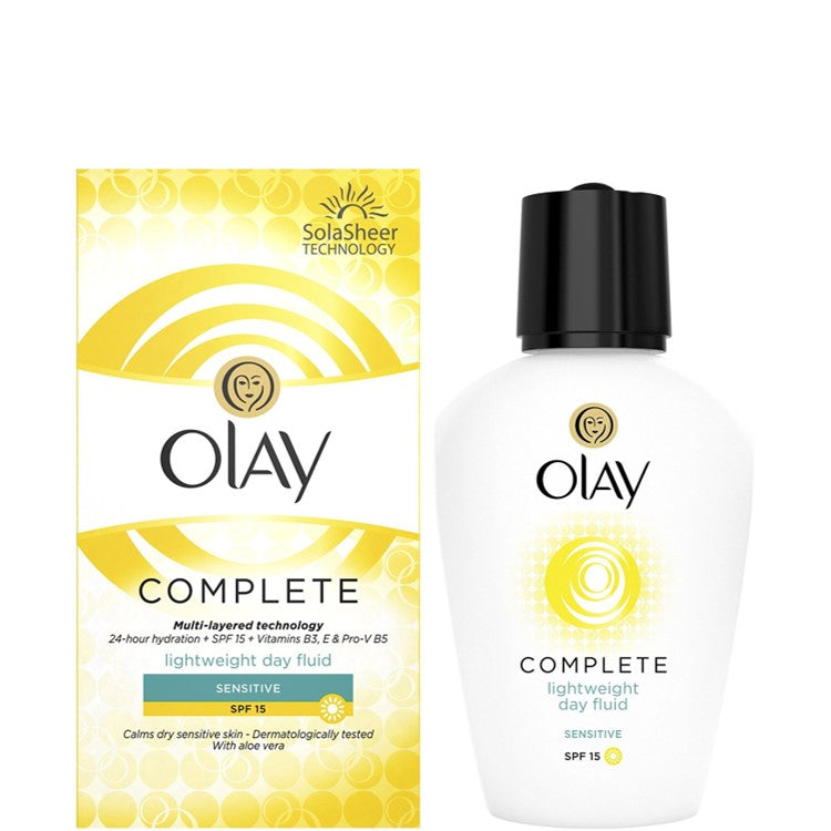 Olay Complete Care Day Moisturiser Fluid For Sensitive Skin 100ml