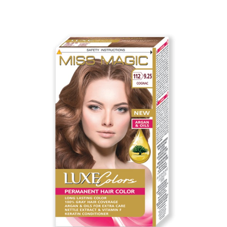 "Permanent Hair Colour ""Miss Magic Luxe Colors"" 108g № 112 Cognac"