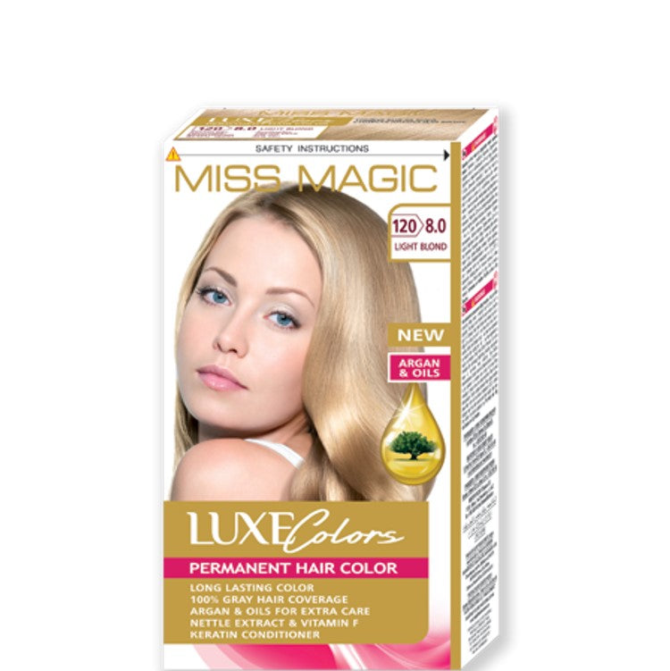 "Permanent Hair Colour ""Miss Magic Luxe Colors"" 108g № 120 Light Blond"