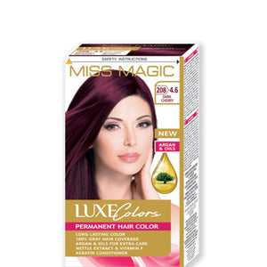 "Permanent Hair Colour ""Miss Magic Luxe Colors"" 108g № 208 Dark Cherry"