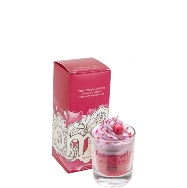 Redcurrant & Cassis Piped Glass Candle