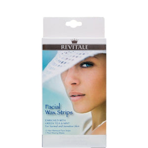 Revitale Facial Wax Strips 12 Pack