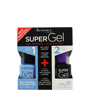 Rimmel London Super Gel Top Coat & Blue Babe Nail Polish