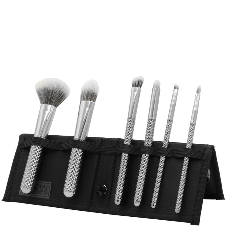 MODA Total Face Silver 7 Piece Professional Makeup Brush Set