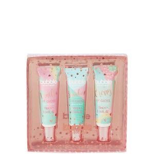 Style & Grace Bubble Boutique Delicious 3pc Lip Gloss Set