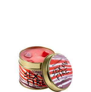 Sex on Fire Tin Candle