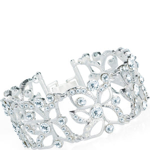 Silver colour crystal bracelet